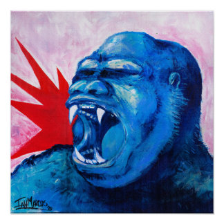 Rugido del gorila póster