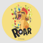 Rugido del guardia el | Kion del león Pegatina Redonda