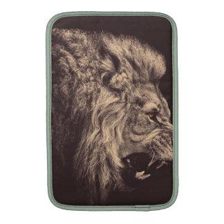 rugido del león del arte del lápiz del león blanco fundas para macbook air