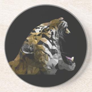 Rugido del tigre posavasos personalizados