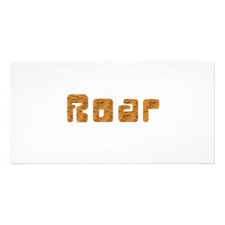 rugido del tigre tarjeta fotografica personalizada