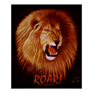 ¡RUGIDO! Poster (del león)