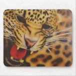Rugidos del leopardo tapete de raton