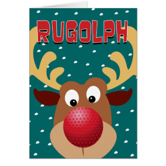 Rugolph The Reindeer Card