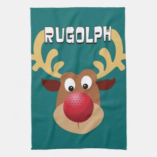 Rugolph The Reindeer Hand Towel