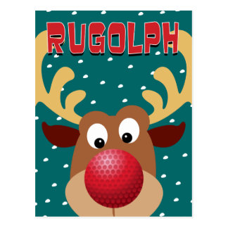 Rugolph The Reindeer Postcard