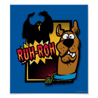 Ruh-Roh Scooby-Doo and a Ghost Poster