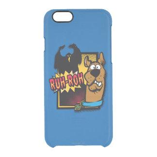 Ruh-Roh Scooby-Doo y un fantasma Funda Clearly™ Deflector Para iPhone 6 De Uncommon