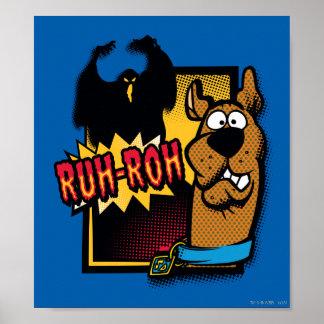 Ruh-Roh Scooby-Doo y un fantasma Póster