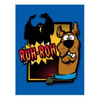 Ruh-Roh Scooby-Doo y un fantasma Tarjeta Postal