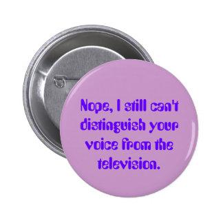 Ruido blanco de la televisión: Botón de la Pin Redondo De 2 Pulgadas