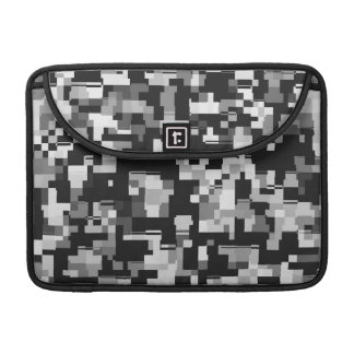 Ruido de fondo en negro y blanco fundas para macbook pro
