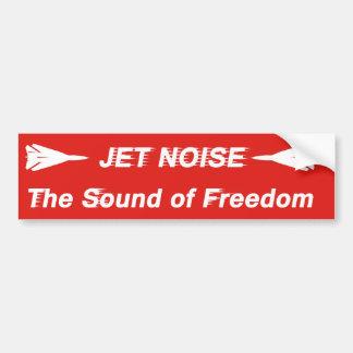 Ruido del jet etiqueta de parachoque