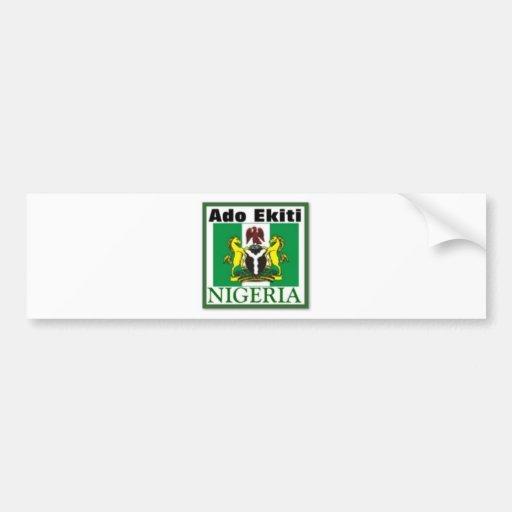 RUIDO EKITI, NIGERIA (camiseta y etc) Pegatina Para Auto