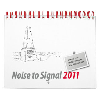 Ruido para señalar 2011 calendarios