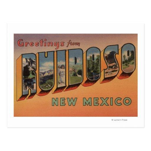 Ruidoso, New México - escenas grandes de la letra Tarjeta Postal