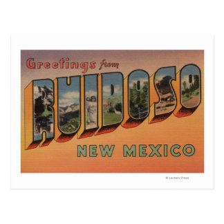 Ruidoso New Mexico - Large Letter Scenes Postcard