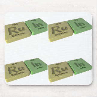 Ruin as Ru Ruthenium and In Indium Mouse Pad