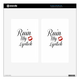 Ruin My Lipstick - Typographic Design Kindle Fire Skins