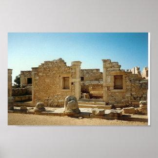Ruina antigua en Chipre Posters