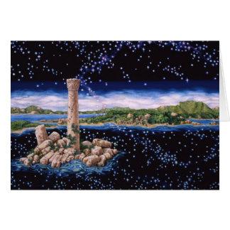 Ruina de la isla, por Darlene P. Coltrain Tarjeta De Felicitación