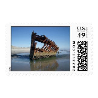 Ruina de la nave timbres postales