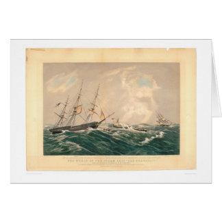 "Ruina del buque de vapor ""San Francisco"" (1877A) Tarjeta De Felicitación"