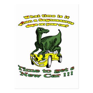 Ruina del coche del Segnosaurus Tarjetas Postales