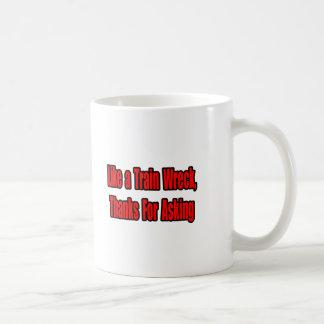 Ruina del tren del cáncer tazas de café