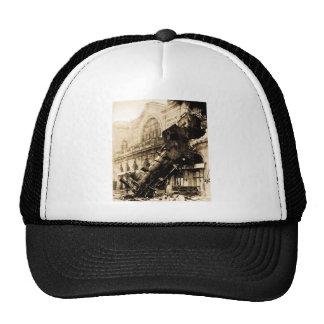 Ruina del tren en el vintage 1895 de Montparnasse Gorro De Camionero