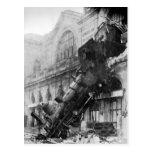 Ruina del tren en la postal de Montparnasse