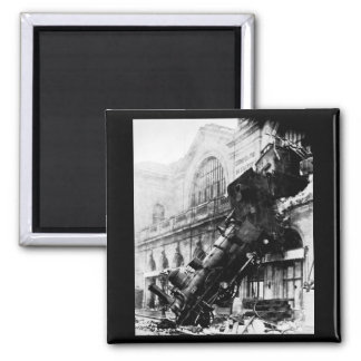 Ruina del tren en Montparnasse, el 22 de octubre d Imán De Frigorifico