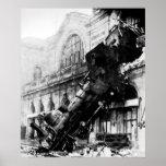 Ruina del tren en Montparnasse, el 22 de octubre d Poster