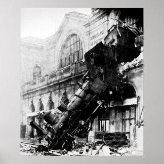 Ruina del tren en Montparnasse, el 22 de octubre d Póster
