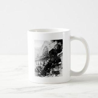 Ruina del tren en Montparnasse, el 22 de octubre Taza