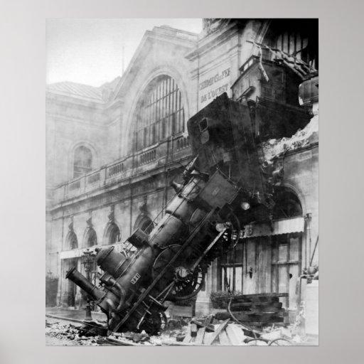 Ruina del tren en Montparnasse Impresiones