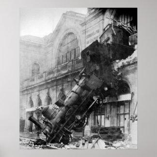 Ruina del tren en Montparnasse Póster