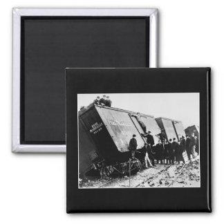 Ruina ferroviaria de la carga de Pere Marquette Iman Para Frigorífico