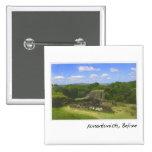 Ruina maya de Xunantunich en Belice Pin Cuadrada 5 Cm