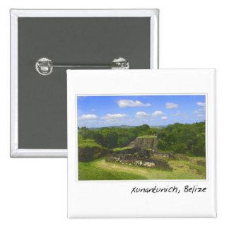 Ruina maya de Xunantunich en Belice Pin Cuadrado