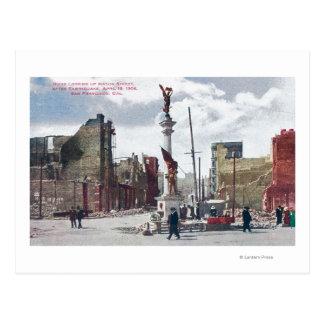 Ruinas a lo largo de la calle del albañil, postales