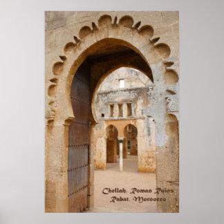 Ruinas antiguas de Chellah, Marruecos Póster