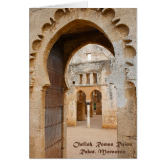 Ruinas antiguas de Chellah, Marruecos Tarjeta De Felicitación