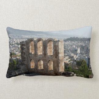 Ruinas antiguas de la acrópolis que pasan por alto cojín
