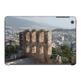Ruinas antiguas de la acrópolis que pasan por alto funda de iPad mini