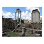 Ruinas antiguas del pilar del templo del ágora postales