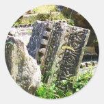 Ruinas antiguas en Ephesus Pegatina Redonda