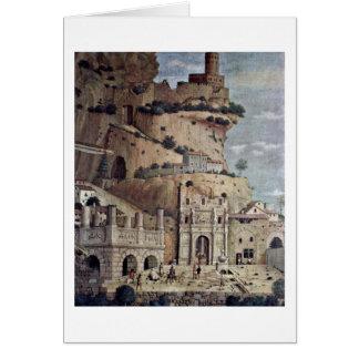 Ruinas arquitectónicas de Andrea Mantegna Tarjetón