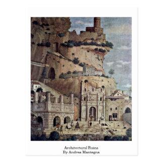 Ruinas arquitectónicas de Andrea Mantegna Postales