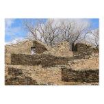 ruinas aztecas del ladrillo con el cielo agradable tarjetas de visita grandes
